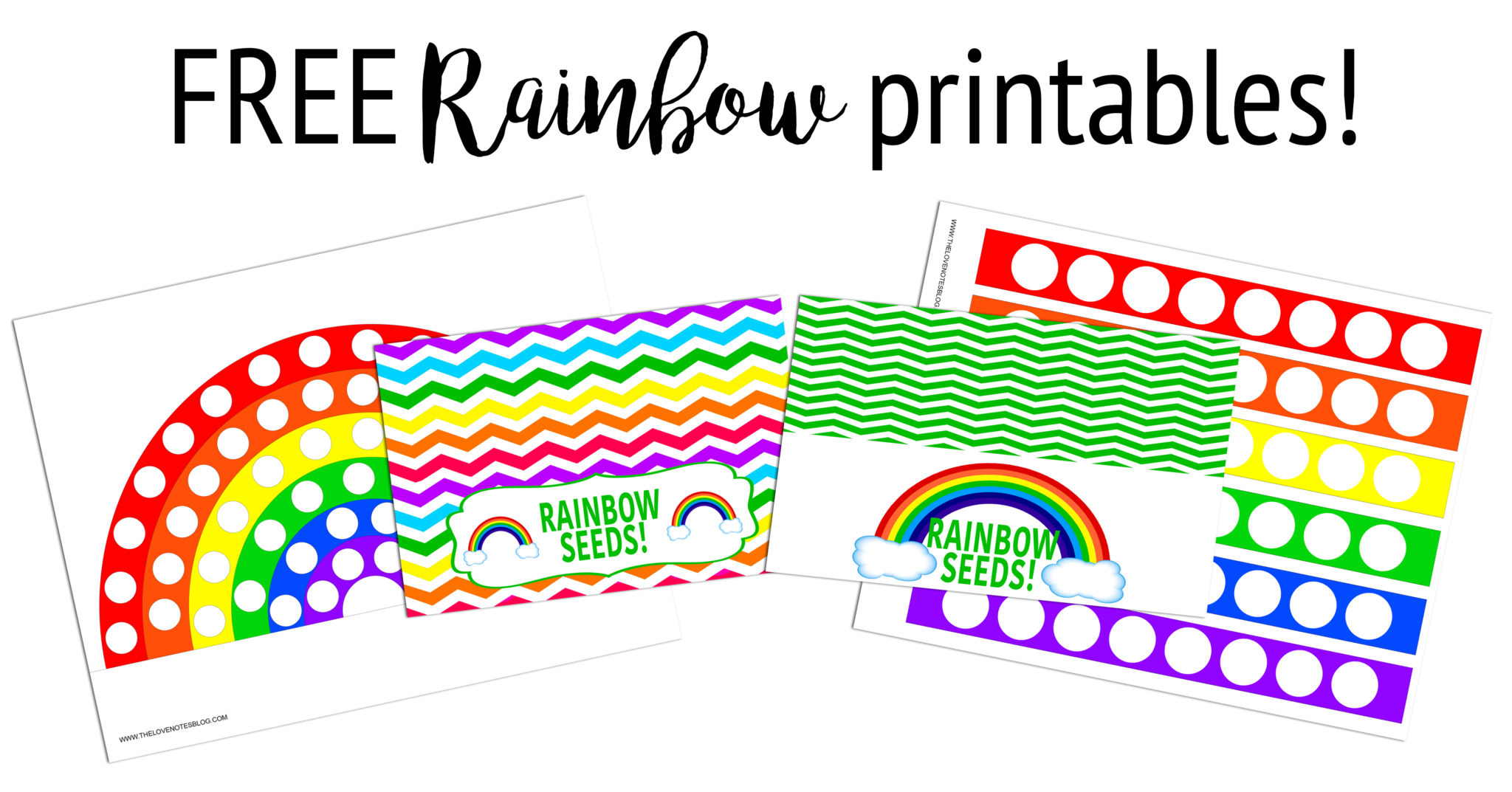 Printable Rainbow Kids Fine Motor Skills Activities