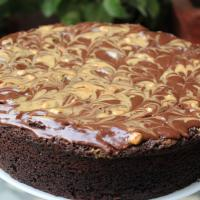 Chocolate and Peanut Butter Swirl Cake