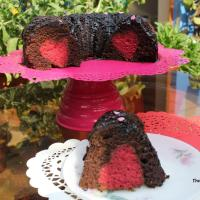 Chocolate Bundt Cake with a Strawberry Surprise (Valentines Day Special)