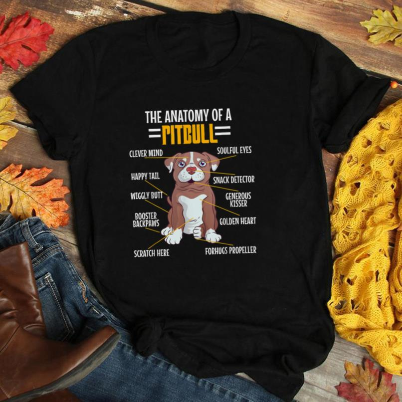 Anatomy Of A Pitbull Dog Lovers Mom Dad Resting Pit Face T Shirt