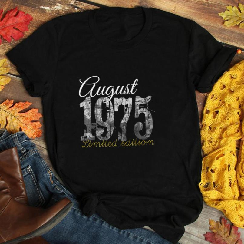 August 1975 Tee   45 Year Old Shirt 1975 45th Birthday Gift T Shirt