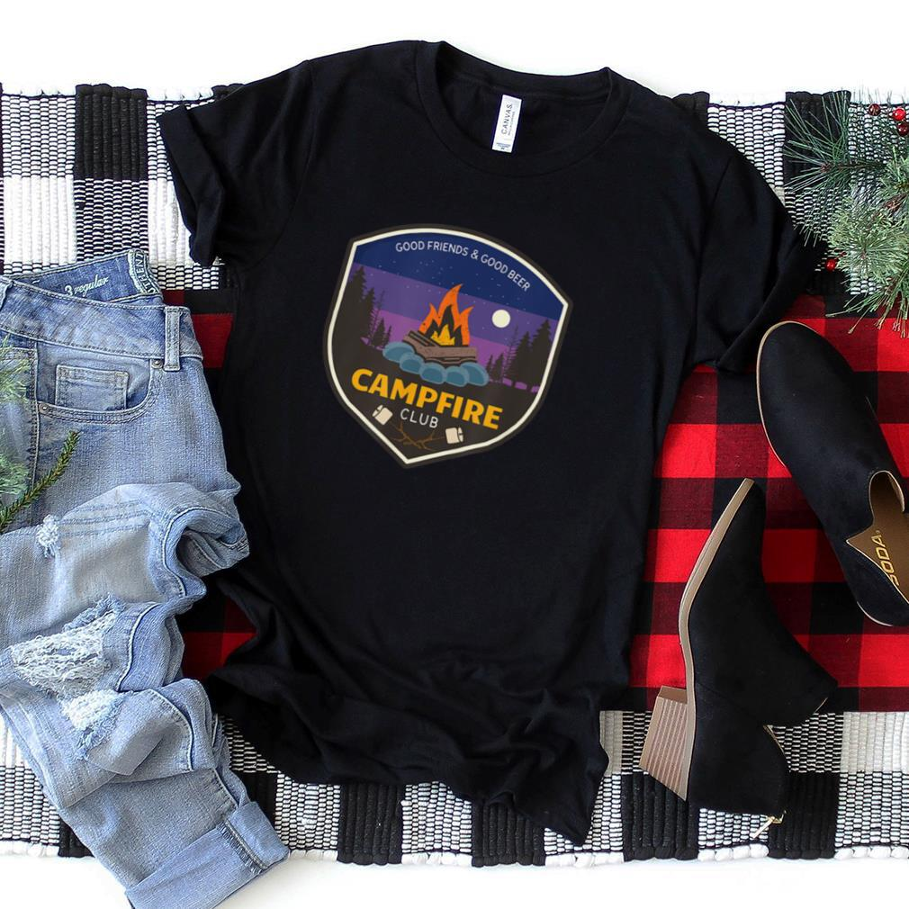 Campfire Club Funny Camping Camper Beer Drinking Gift T Shirt