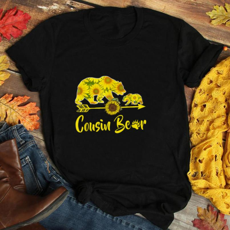 Cousin Bear Sunflower T Shirt Funny Mother Father Gifts T Shirt