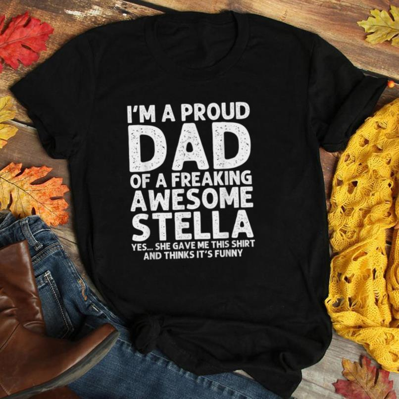Dad Of STELLA Gift Father's Day Funny Personalized Name Joke T Shirt