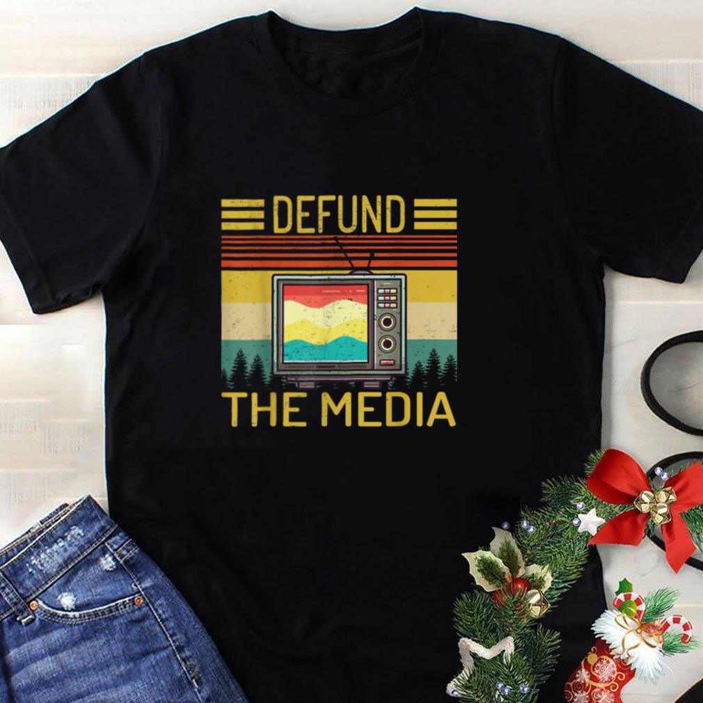 Defund the media retro Vintage funny gift T Shirt