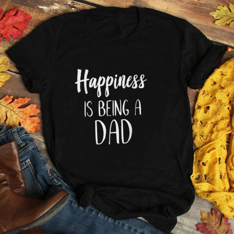 FAMILY 365 Happiness is Being A Dad Funny Fathers Day Gift T Shirt
