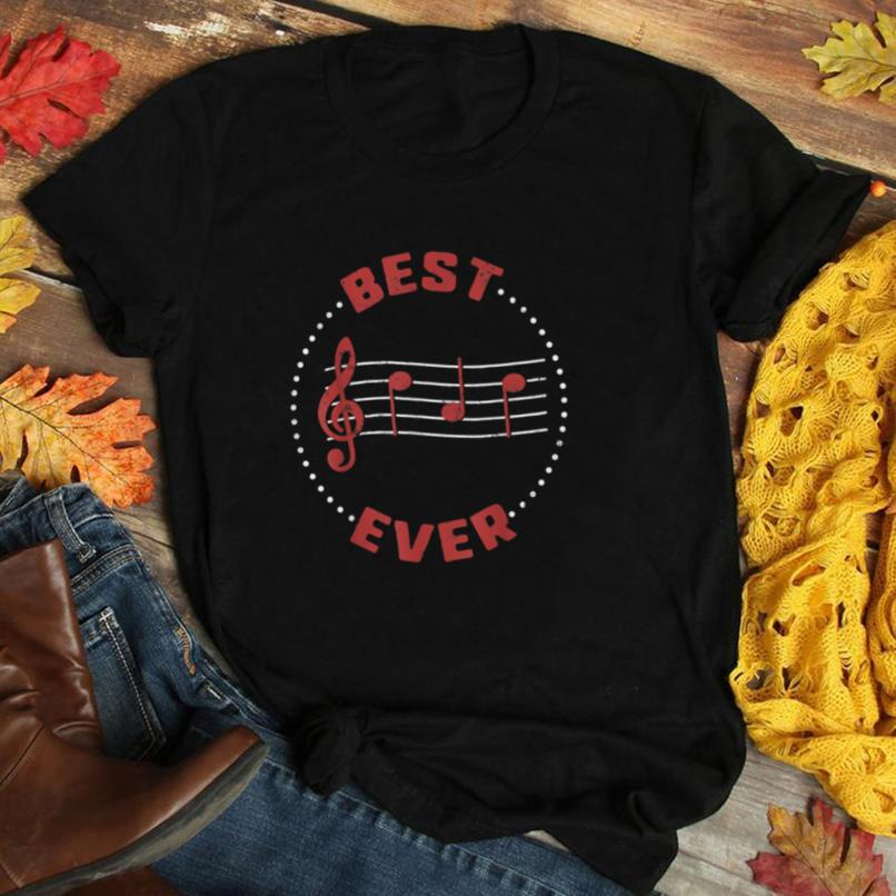 Fathers Day Best Dad Ever Music Player Musician Gift T Shirt
