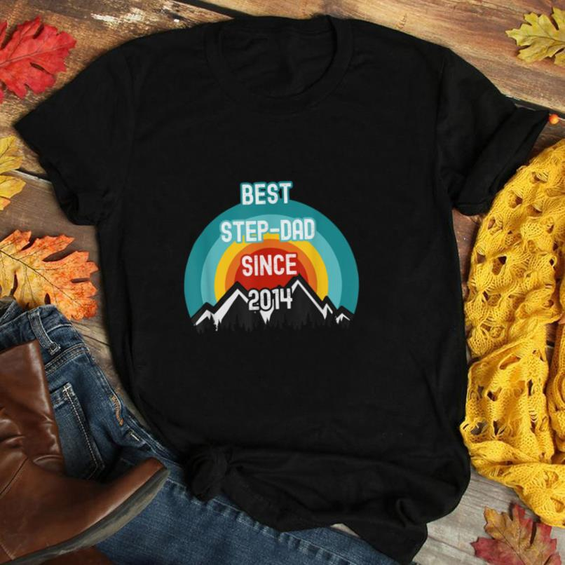 Gift For Step Dad, Best Step Dad Since 2014 T Shirt