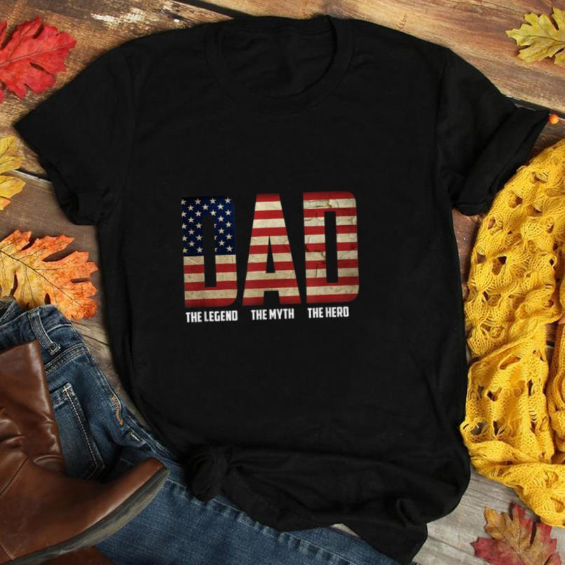 Hero father's day perfect gifts American Flag T Shirt