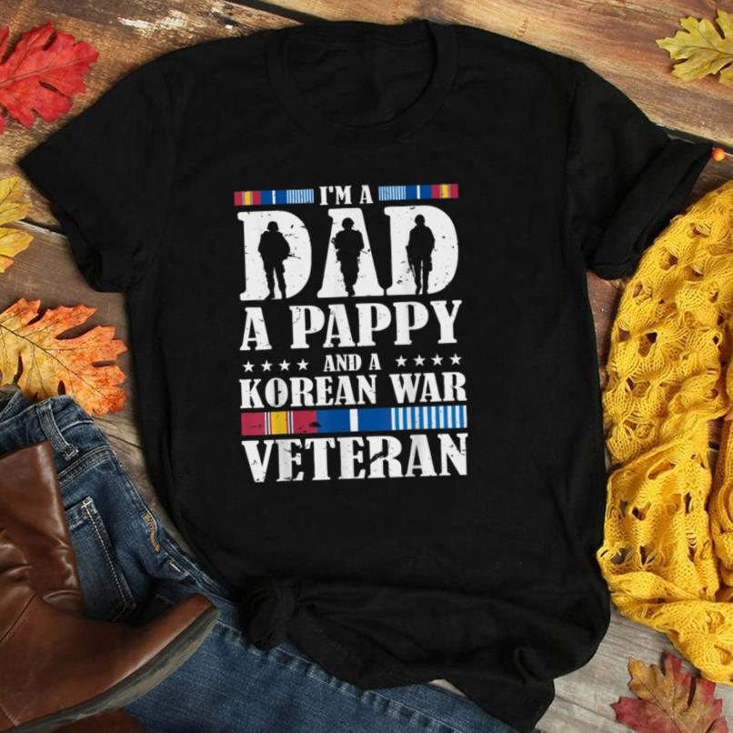 Mens A Dad A Pappy And A Korean War Veteran Father Gift T Shirt