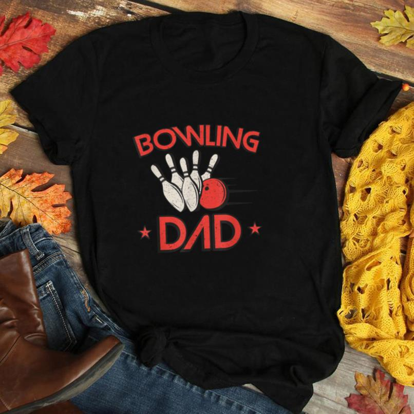 Mens Bowling Dad Retro Gift Daddy Father's Day Bowler T Shirt