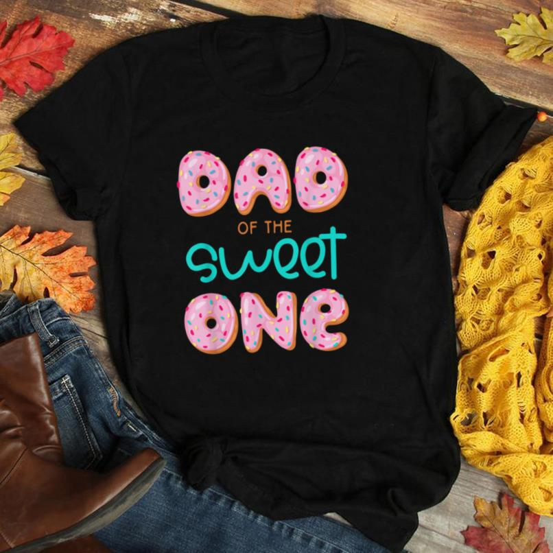 Mens Dad Sweet One 1st First Birthday Matching Family Donut T Shirt
