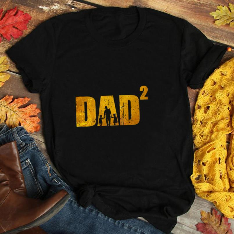 Mens Dad to the second father with two daughters T Shirt