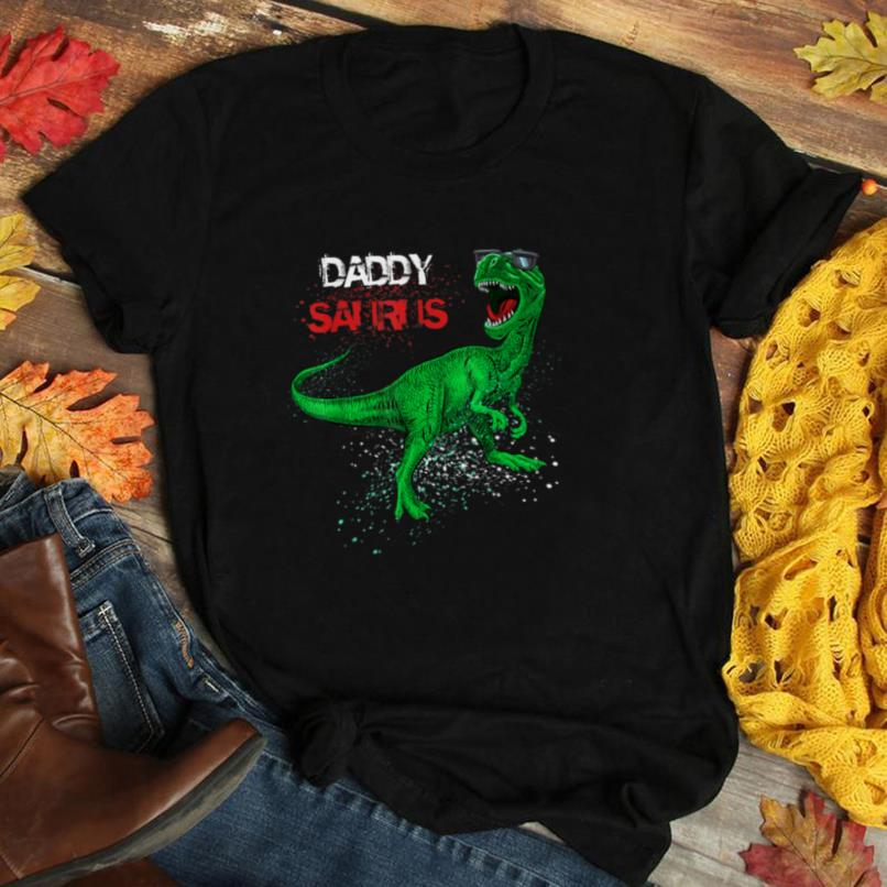 Mens Daddysaurus T Rex Dad Daddy Dinosaur Father's Day Father Tee T Shirt