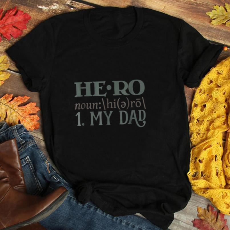 Mens HERO 1. MY DAD Funny T Shirt Fathers Day Gift