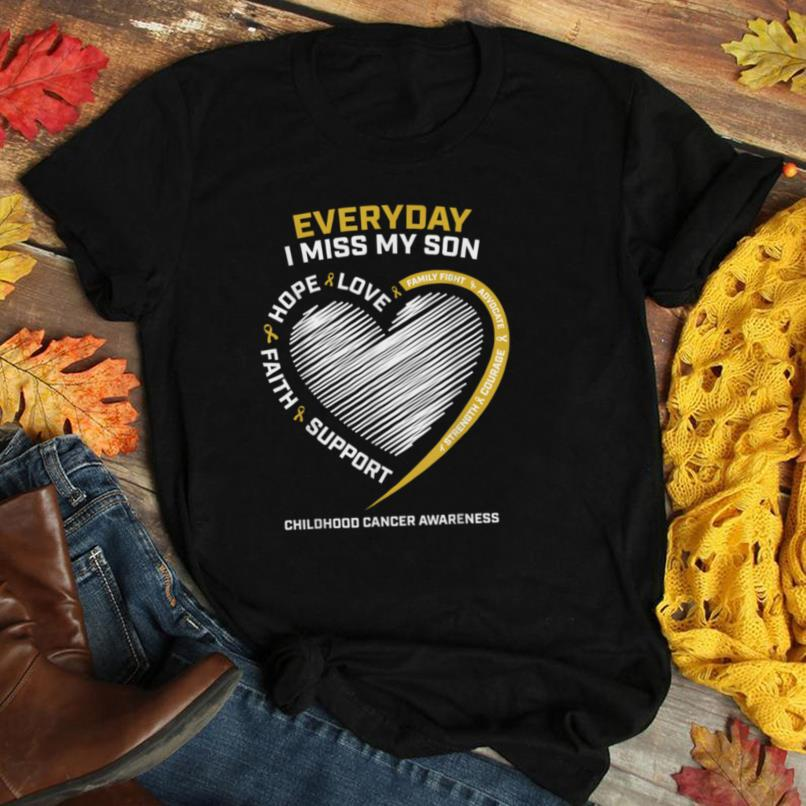 Mom Dad Gold In Memory Of My Son Childhood Cancer Awareness T Shirt