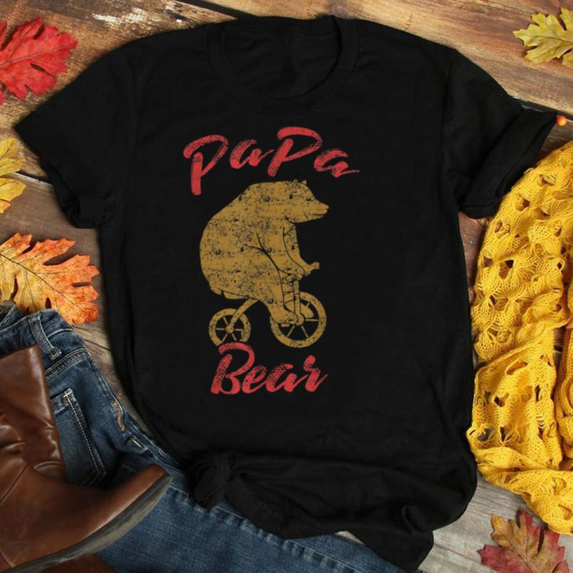 Papa Bear Tee Funny Father's Day Daddy Dad Hilarious Gift T Shirt