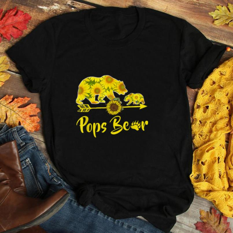 Pops Bear Sunflower T Shirt Funny Mother Father Gifts T Shirt
