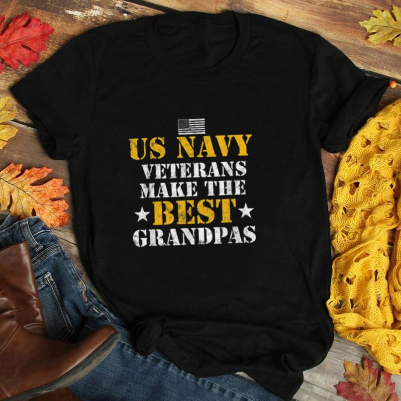 US Navy Veterans Make the Best Grandpas Fathers day gift T Shirt