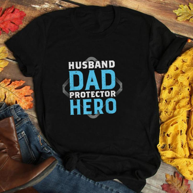 Worlds Best Dad Hero Daddy Protector Saying Graphic Print T Shirt