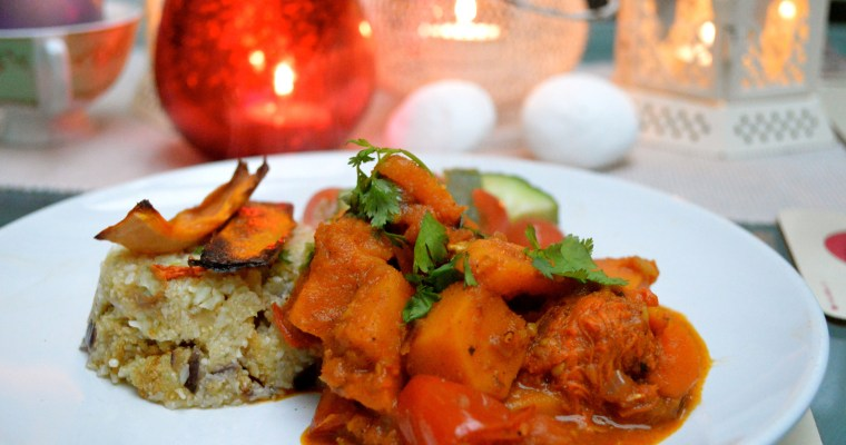 Roasted tomato and butternut squash curry