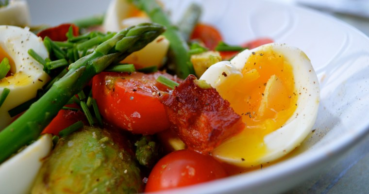 A warm salad to welcome Autumn