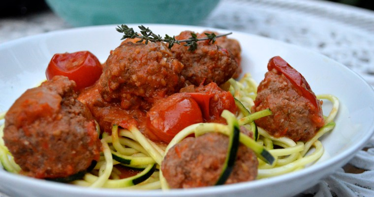 Mrs P's Courgetti Meatball Bolognese