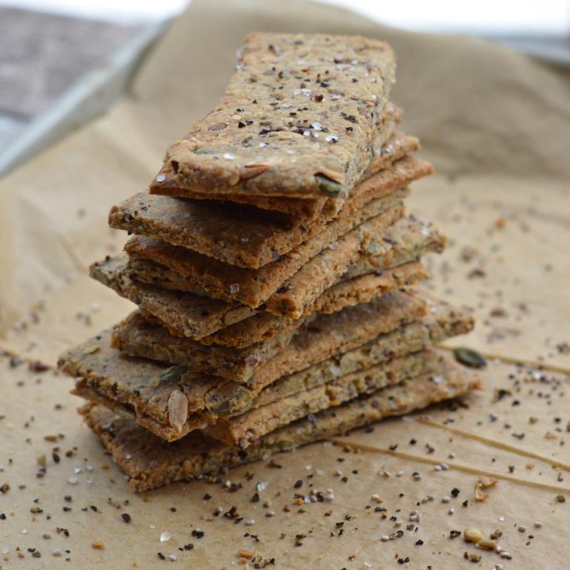 paleo seed crackers