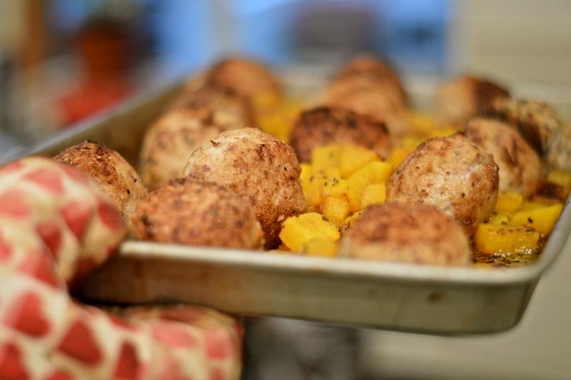 Apple and sage pork balls