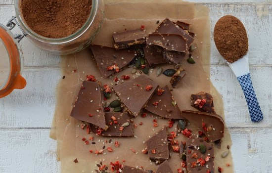 Raw Fruit and Nut Chocolate Crunch Pieces