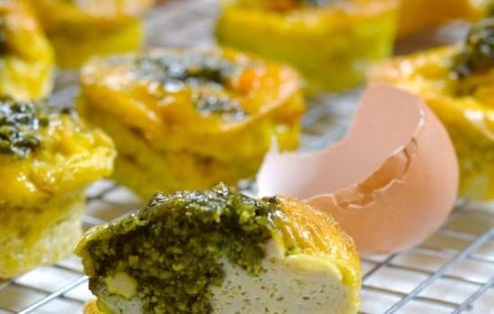 Pesto Muffin Frittatas