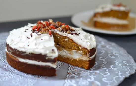 Flourless Ginger Cake With Ginger Cream
