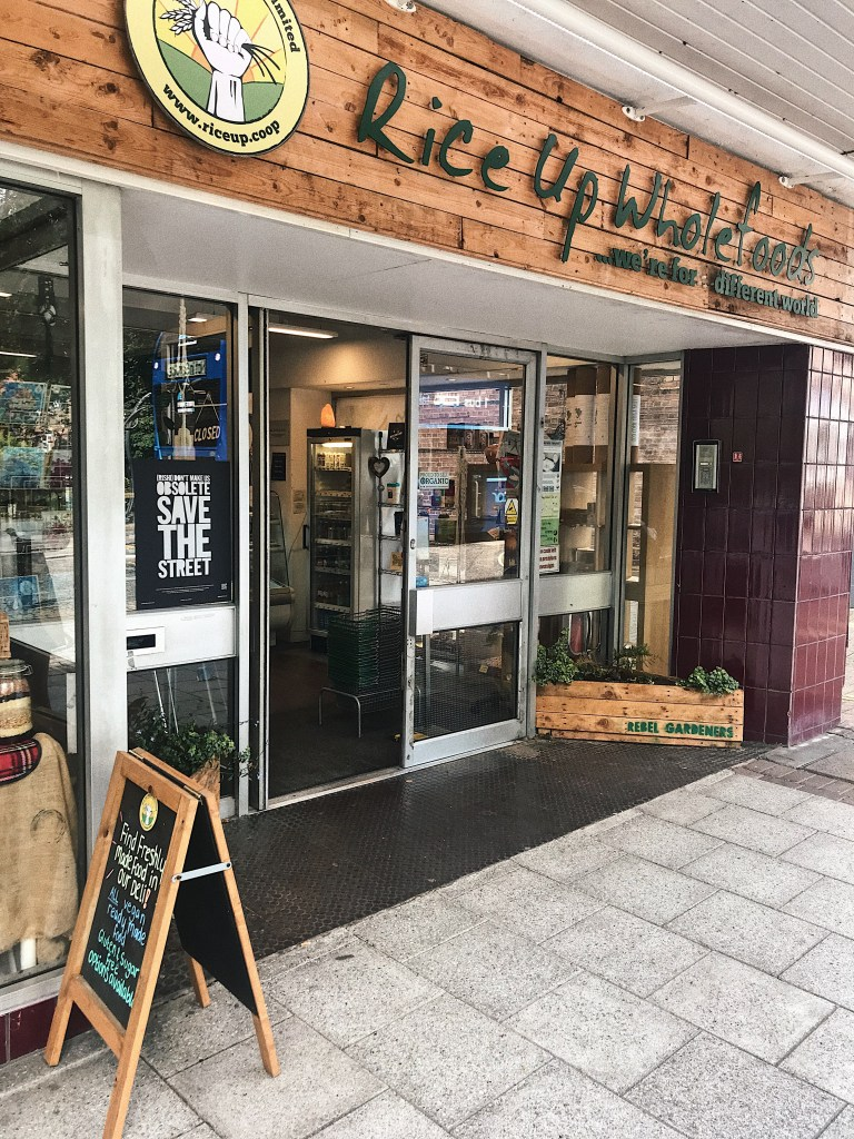Shop front of Rice up Wholefoods, Southampton