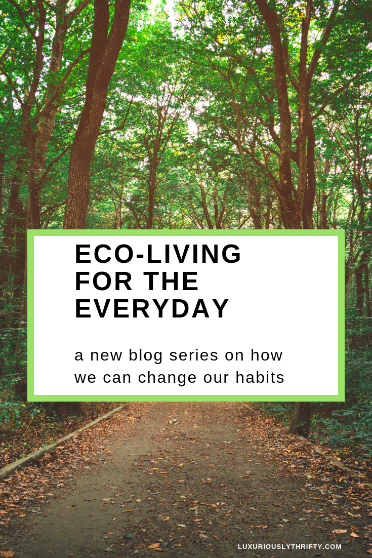 Eco-Living for the Everyday: Why we Need to Change our Habits and How we Can | Luxuriously Thrifty