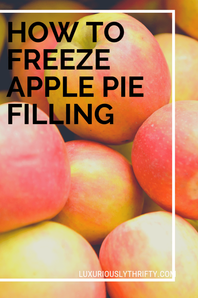 No time to bake pies, but tons of apples? Freeze it! How to freeze apple pie filling | Luxuriously Thrifty