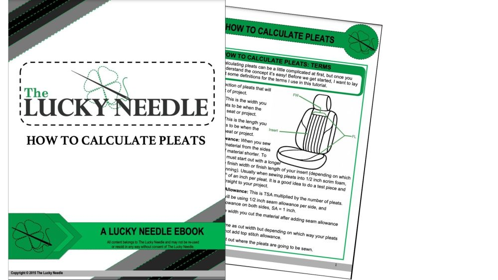 How to Calculate Pleats Ebook for Upholstery Training DVD's