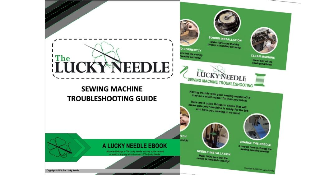 Sewing Machine Troubleshooting Guide Ebook for Upholstery Training DVD's