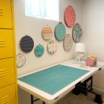 cutting table and fabric embroidery hoops