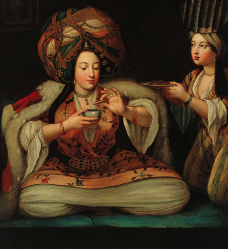 """Kahve Keyfi"" (Coffee Delight), unknown artist, early 18th century."