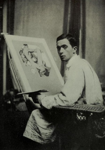 J-C Leyendecker in his Studio, 1905, sourced from the Appleton's Magazine