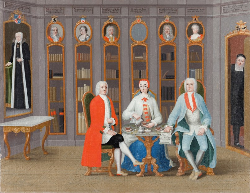 Carl Fredrik Svan -The Stenbock family in their library at Rånäs c.1740