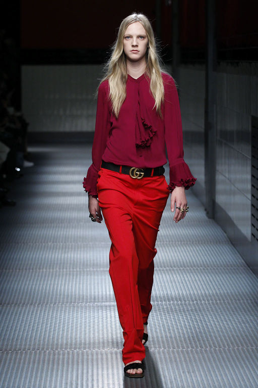 A look from Gucci's women's Fall Winter 2015 collection
