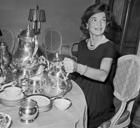 Portrait of Jackie Kennedy Pouring Tea
