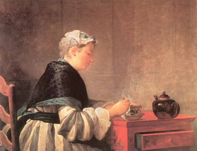 Jean Baptiste Simeon Chardin, A lady taking tea, 1735