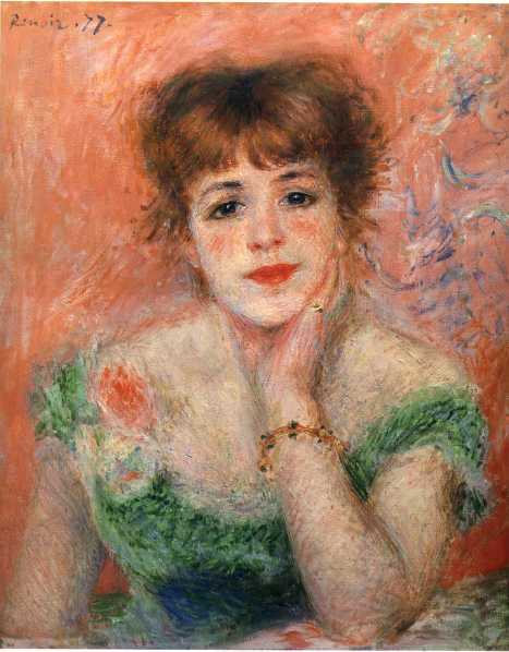 The leading actress of Comedie Francaise, Jeanne Samary by Auguste Renoir 1877