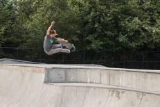 Robert Selph catches a ton of air at the Arcata Skate Park.