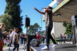 Zion I's Baba Zumbi performs at the UC Quad on Sept. 26. | Curran C. Daly