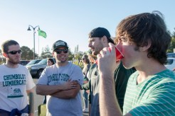 Lumberjack fans tailgating before the football game on Oct. 14, 2017