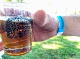 The glass everyone given to everyone who tried local beer at the 17th annual Hoptoberfest Oct. on 14th.