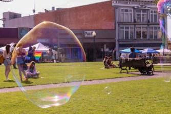 Bubbles at Humboldt pride. | Kyra Skylark